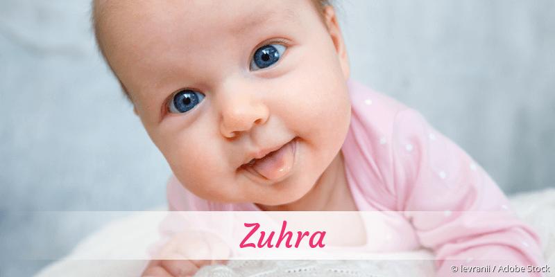 Name Zuhra als Bild