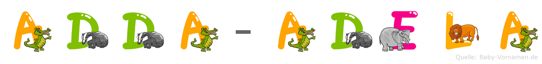 Adda-Adela im Tieralphabet