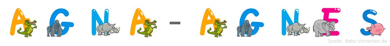 Agna-Agnes im Tieralphabet