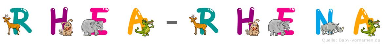 Rhea-Rhena im Tieralphabet