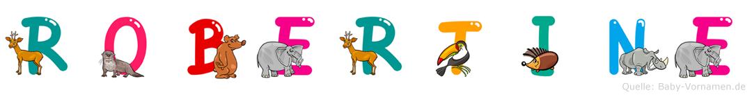 Robertine im Tieralphabet