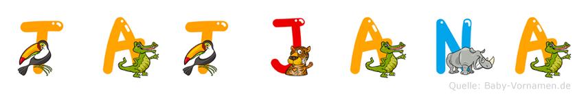 Tatjana im Tieralphabet