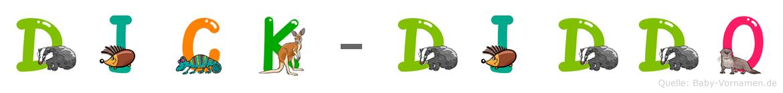 Dick-Diddo im Tieralphabet