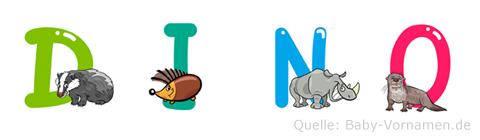 Dino im Tieralphabet