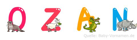 Ozan im Tieralphabet