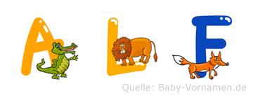 Alf im Tieralphabet