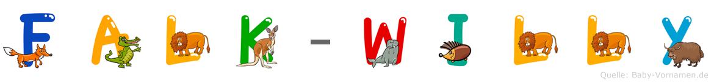 Falk-Willy im Tieralphabet