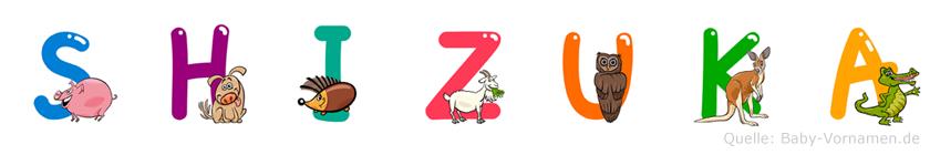 Shizuka im Tieralphabet