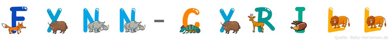 Fynn-Cyrill im Tieralphabet