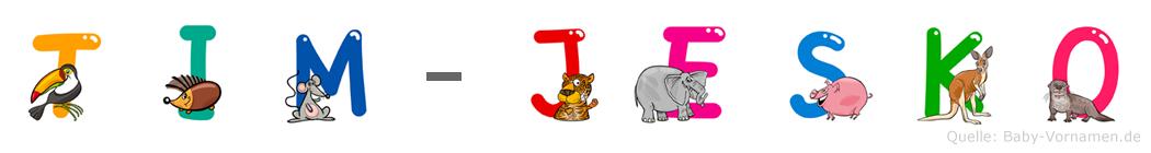 Tim-Jesko im Tieralphabet