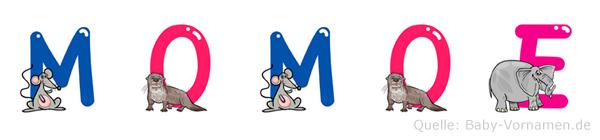 Momoe im Tieralphabet
