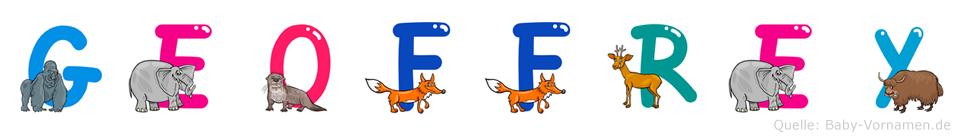 Geoffrey im Tieralphabet