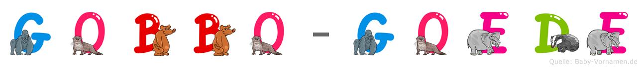 Gobbo-Göde im Tieralphabet