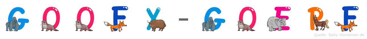 Goofy-Göpf im Tieralphabet