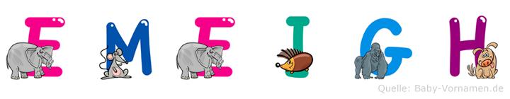 Emeigh im Tieralphabet