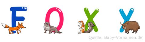 Foxy im Tieralphabet