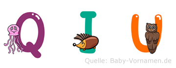 Qiu im Tieralphabet
