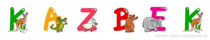 Kazbek im Tieralphabet