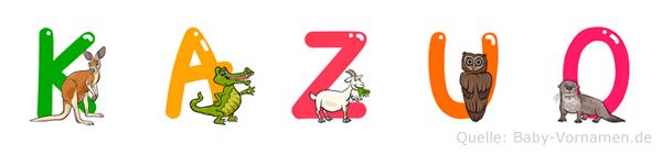 Kazuo im Tieralphabet