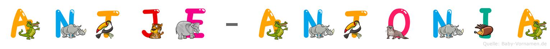Antje-Antonia im Tieralphabet