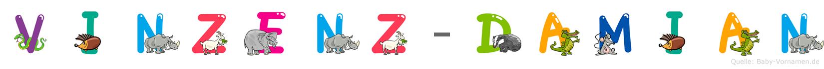 Vinzenz-Damian im Tieralphabet