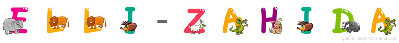 Elli-Zahida im Tieralphabet
