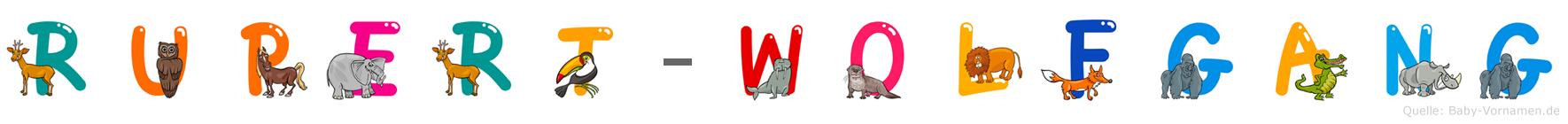 Rupert-Wolfgang im Tieralphabet
