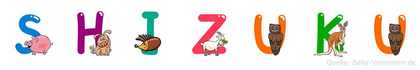Shizuku im Tieralphabet
