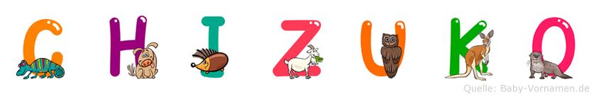 Chizuko im Tieralphabet