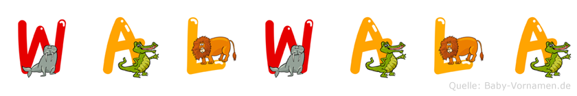 Walwala im Tieralphabet