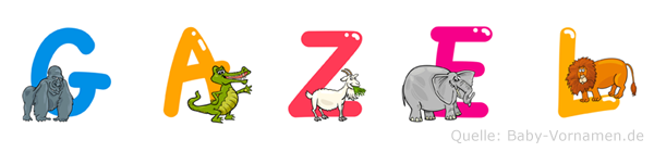 Gazel im Tieralphabet