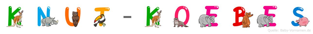 Knut-Köbes im Tieralphabet