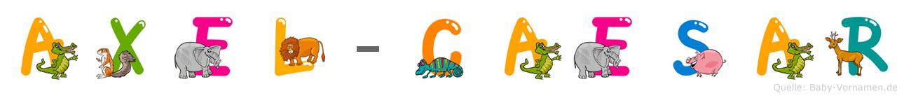 Axel-Cäsar im Tieralphabet