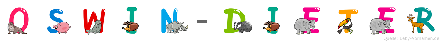 Oswin-Dieter im Tieralphabet